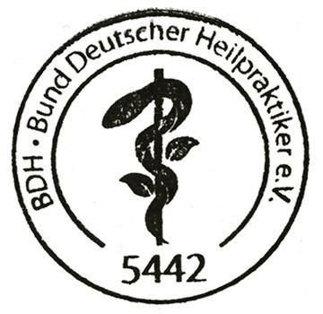 Signet vom Bund Deutscher Heipraktiker e. V.